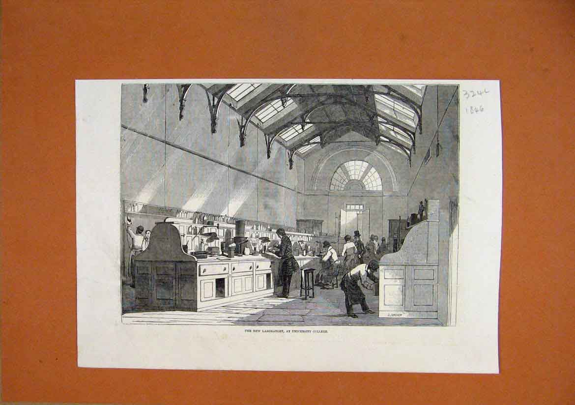 Print 1846 New Laboratory University College 24Lmar1 Old Original