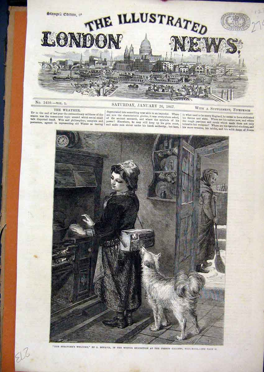 Print 1870 Office Telegraph Bombay Bay Great Eastern Ship 74Mar1 Old Original