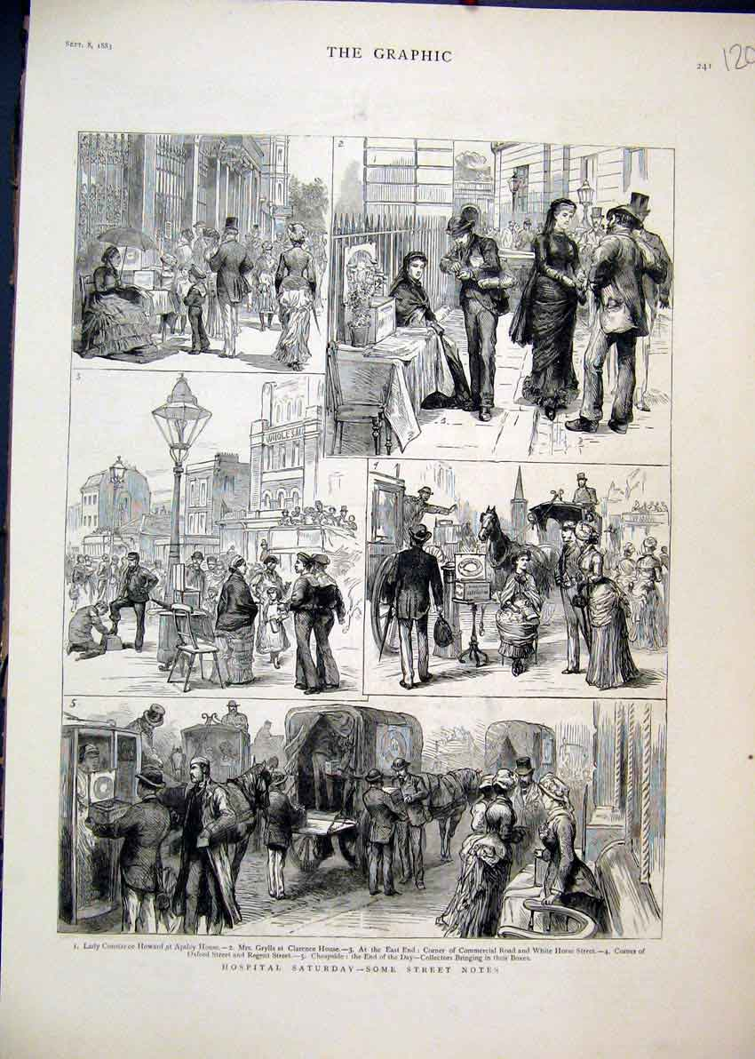 Print Lady Constance Apsley House 1883 Oxford Street Regent 20Mar1 Old Original