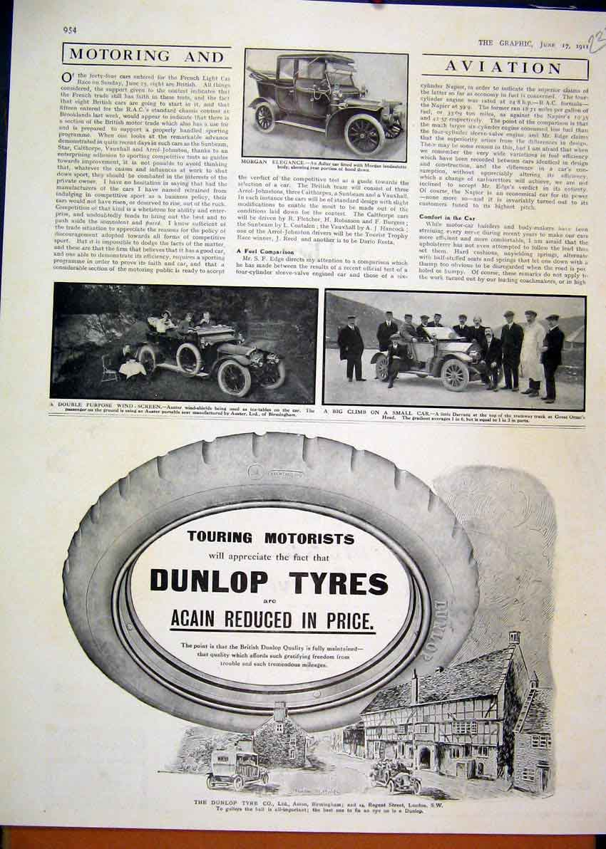 Print Advert Wolseley Tool Motor Car 1914Rover Burghley House 32Mar1 Old Original