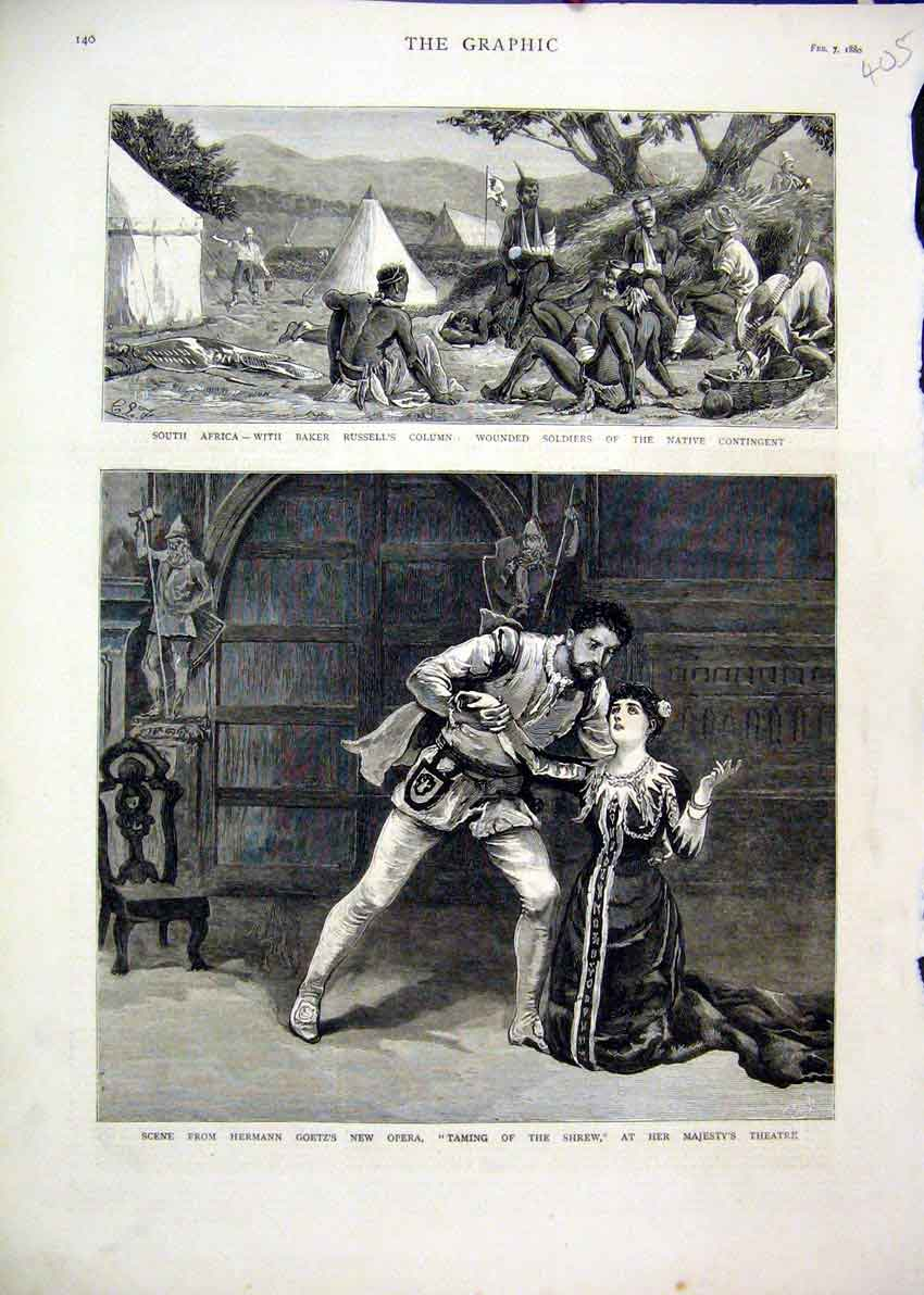 Print 1880 Herman Goetz Opera Taming Shrew Majesty Theatre 05Mar1 Old Original
