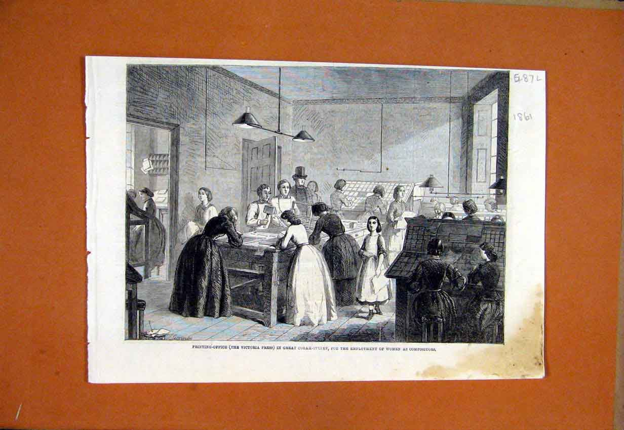 Print 1861 Ing Office Great Coban Street Women Work 87Lmar1 Old Original