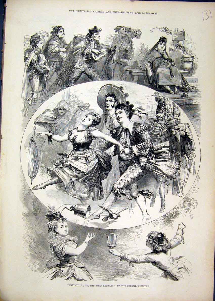 Print Intimidad Lost Regalia Strand Theatre 1875 Dancing 31Mar1 Old Original
