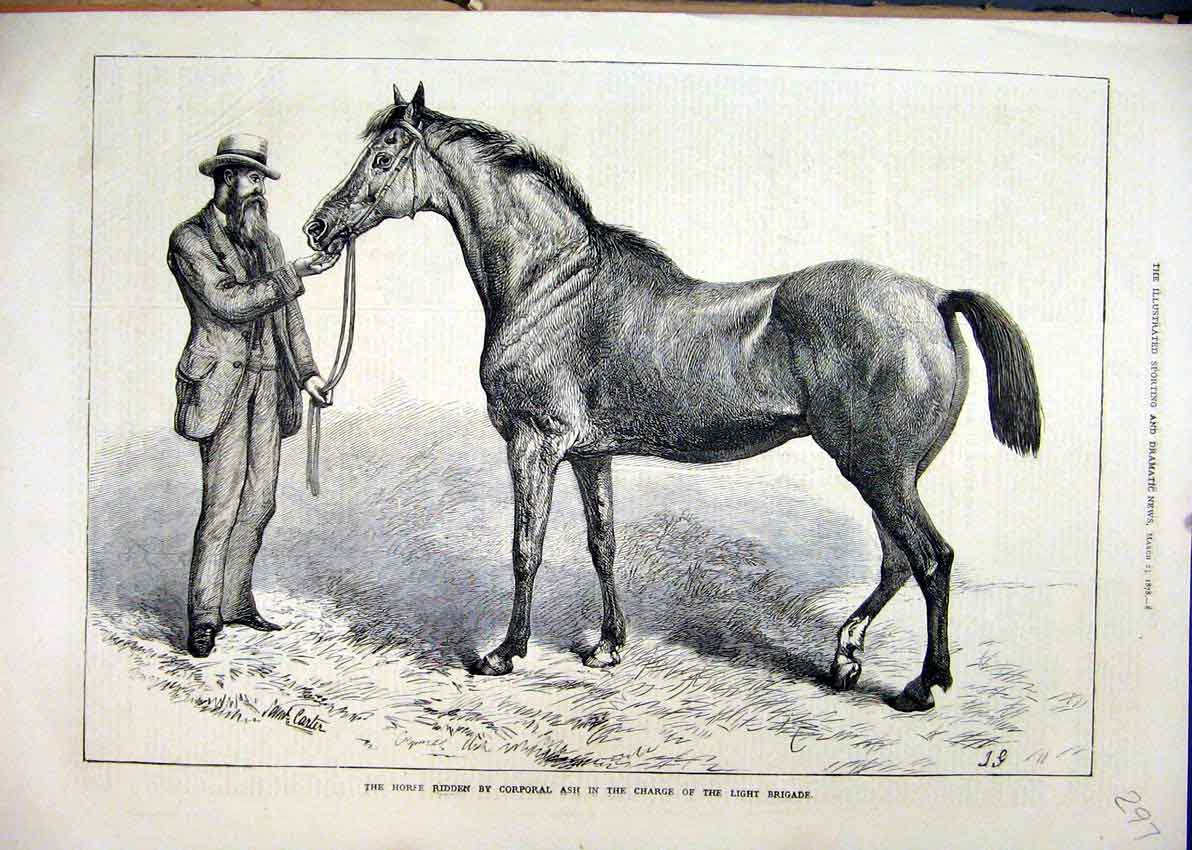 Print 1878 Horse Corporal Ash Charge Light Brigade 97Mar1 Old Original