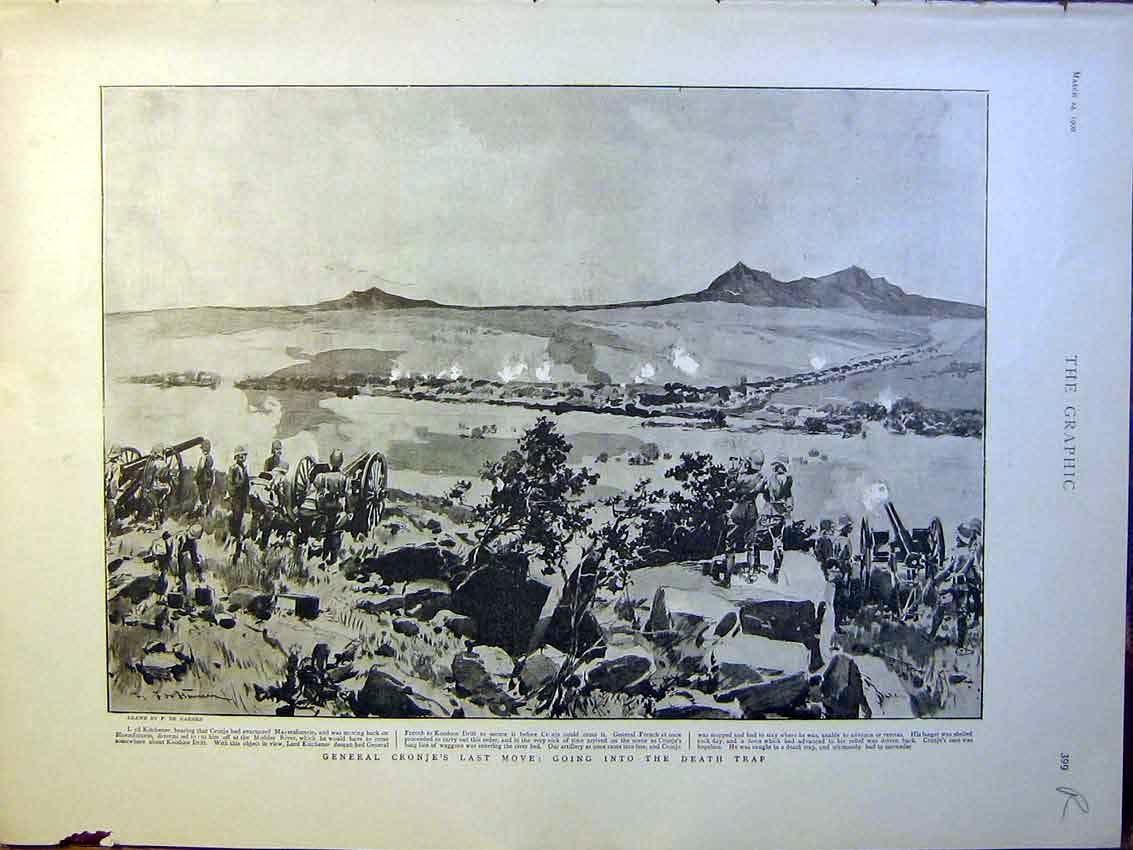 [Print General Cronje Boer War Africa Irish Soldiers 1900 99Rmbb0 Old Original]