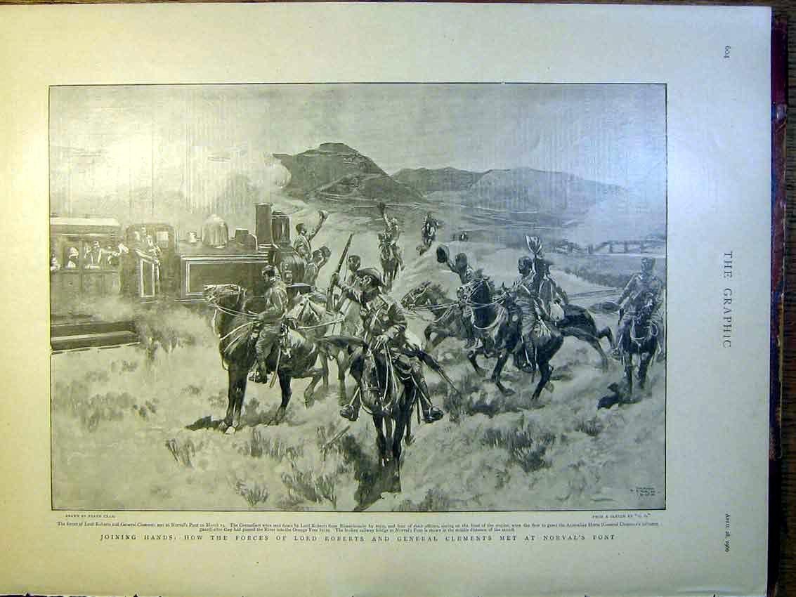 [Print Roberts Clements Norval'S Post Boer War Africa 1900 04Mbb0 Old Original]