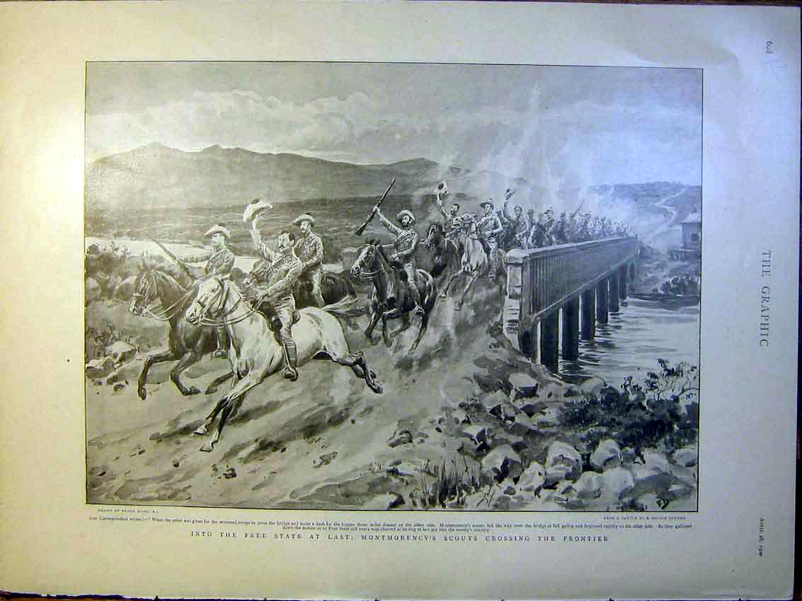 [Print Free State Boer War Africa Scouts Paris Exhibition 1900 08Rmbb0 Old Original]