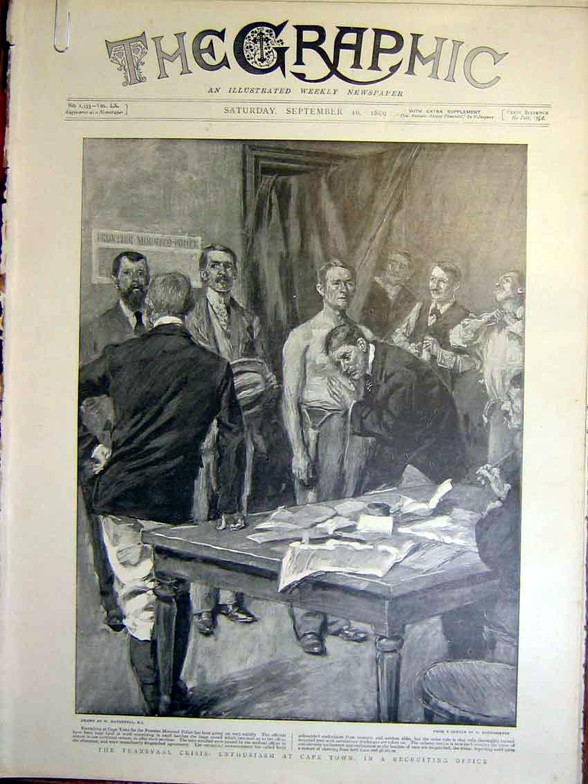 [Print Transvaal Recruiting Office Boer War Africa 1899 70Ambb1 Old Original]