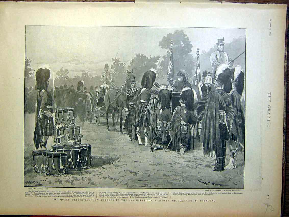 [Print Seaforth Highlanders Balmoral Pretoria Africa War 1899 19Rmbb1 Old Original]