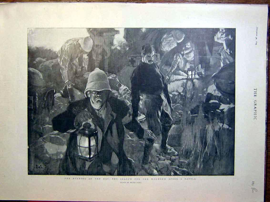 [Print Battle Wounded Boer War Africa Officers Australian 1899 85Rmbb1 Old Original]