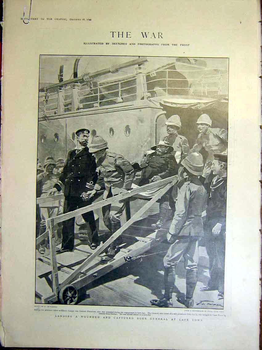 [Print War Boer General Cape Town Africa Pretoria 1899 04Ambb1 Old Original]