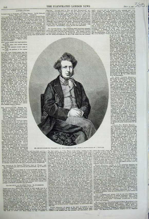 Print 1859 Portrait George Hammond Whalley Peterborough 380N108 Old Original