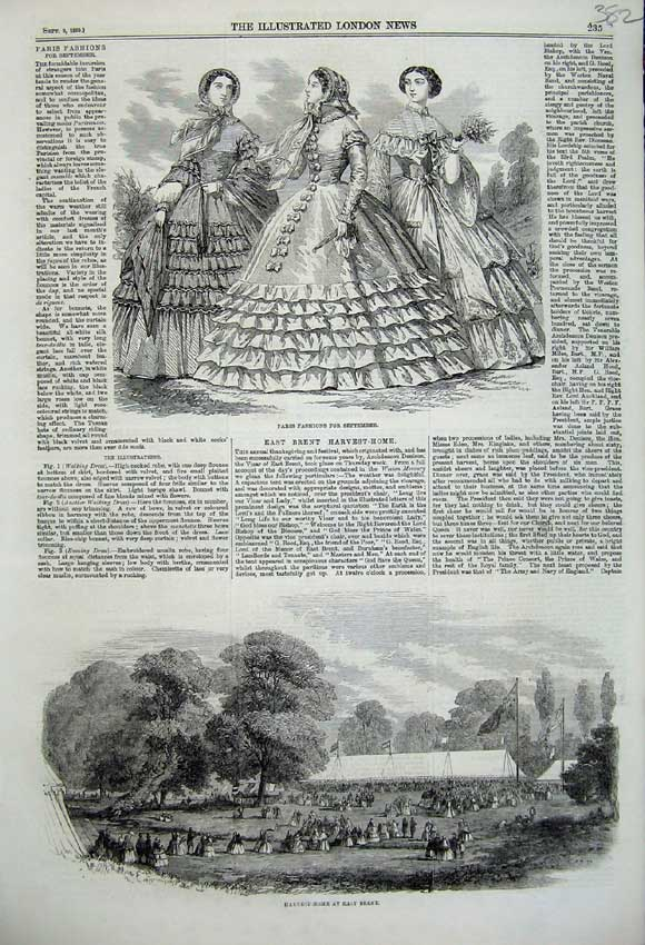 Print Paris Fashion 1859 Harvest Home Brent Agricultural 382N108 Old Original