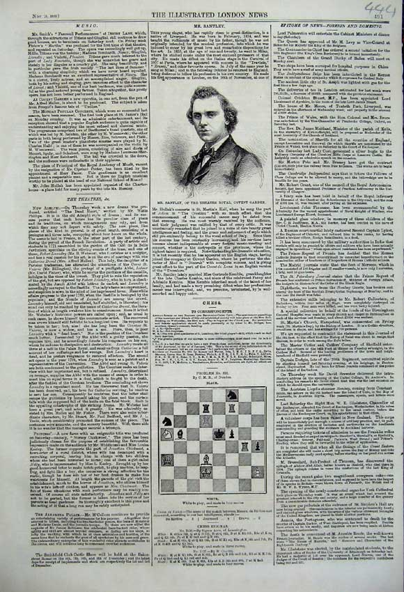 Print Portrait Mr Stanley Theatre Royal Covent Garden Chess 444N108 Old Original