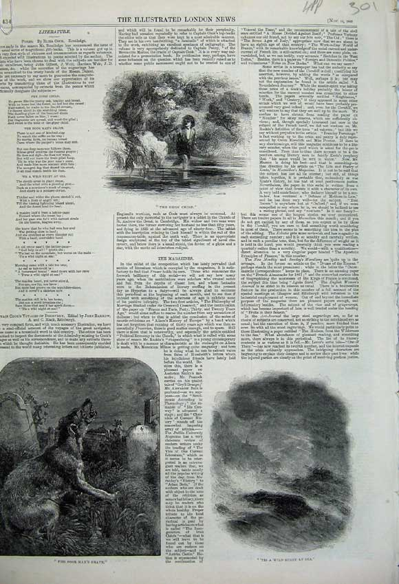 Print 1860 Statue Lord Lyons Race Cup Edmund Buckley Gipsy 301N110 Old Original
