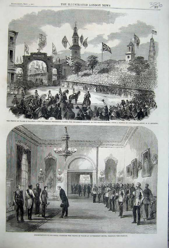 Print 1860 Prince Wales Halifax Children'S Gallery Government 386N110 Old Original