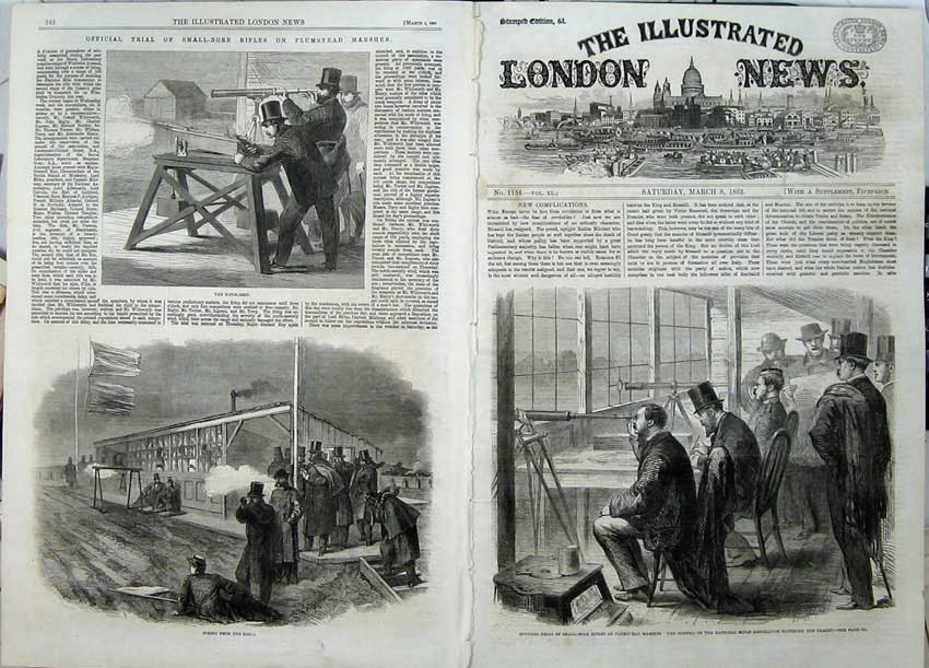 Print 1862 Rifle Association Plumstead Marshes Council Men 529Tn113 Old Original