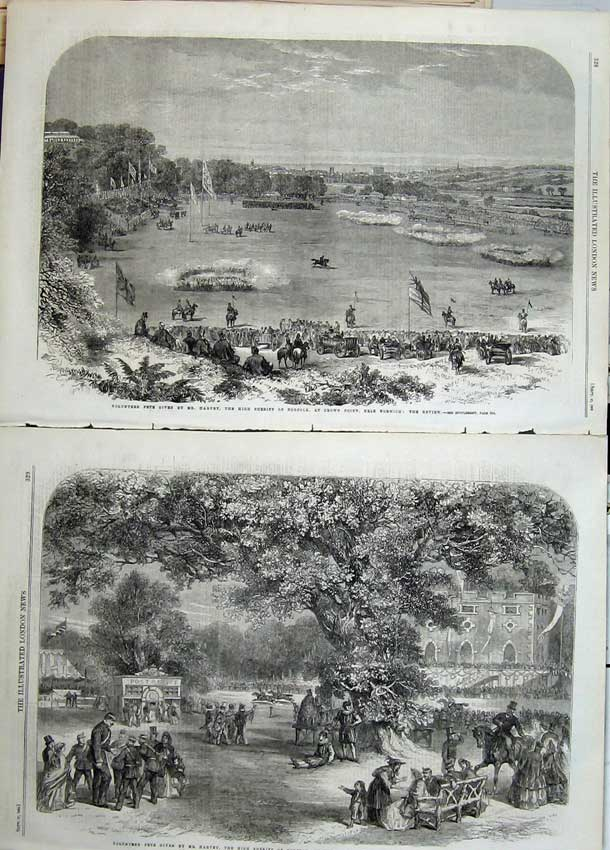Print 1862 Volunteer Fete Sheriff Norfolk Sports Crown Point 518Tn114 Old Original