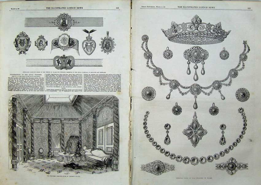 Print 1863 Princess Dressing Room Georges Chapel Jewellery 519Tn115 Old Original