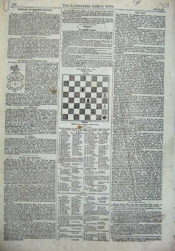 [Print 1867 Fifteen Pages Illustrated London News Newspaper 301N123 Old Original]