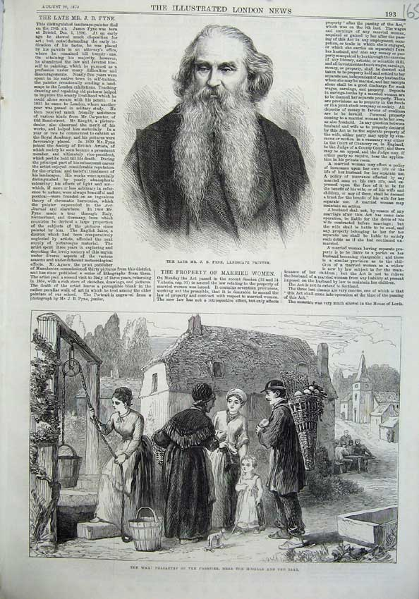 [Print Pyne Painter 1870 War Peasantry Moselle Saar Families 165N129 Old Original]