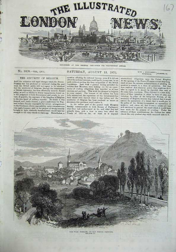[Print 1870 War Forbach French Frontier Mountains Fine Art 167N129 Old Original]