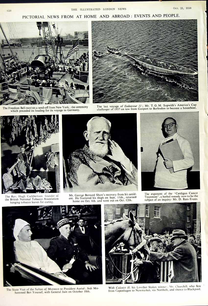 [Print 1950 Tongking French Soldiers War Moroccan Ship Shaw 333Rn178 Old Original]