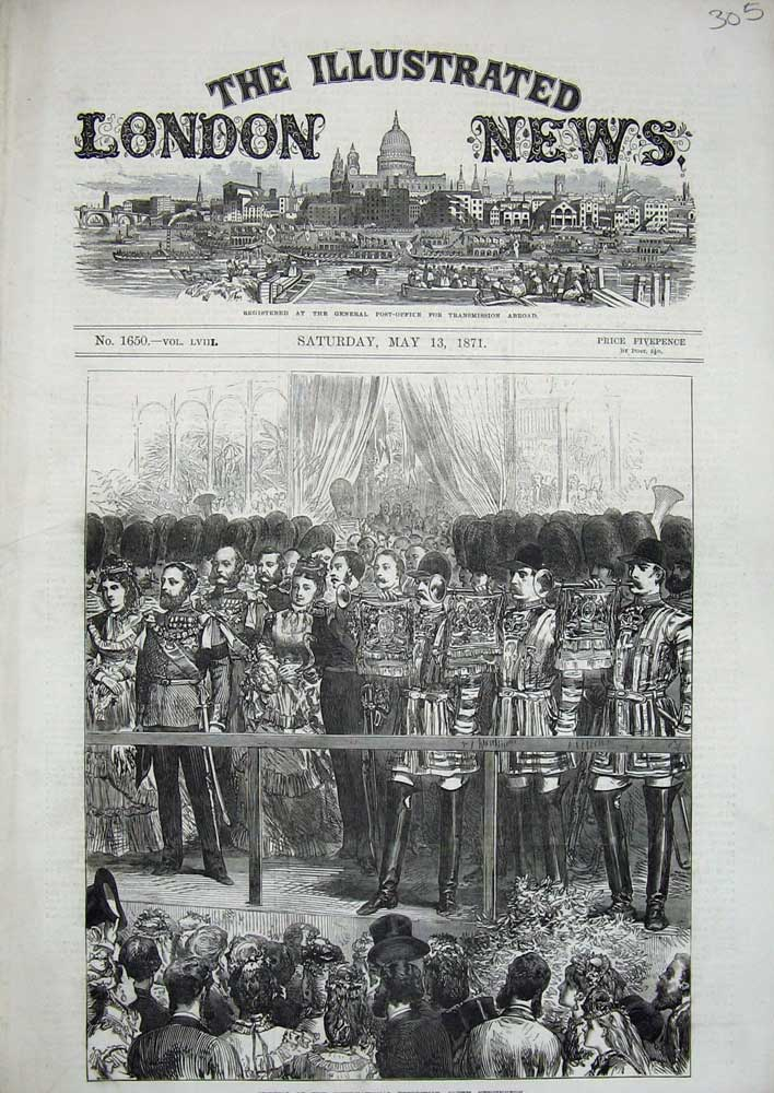 Print 1871 Opening International Exhibition South Kensington 305N715 Old Original