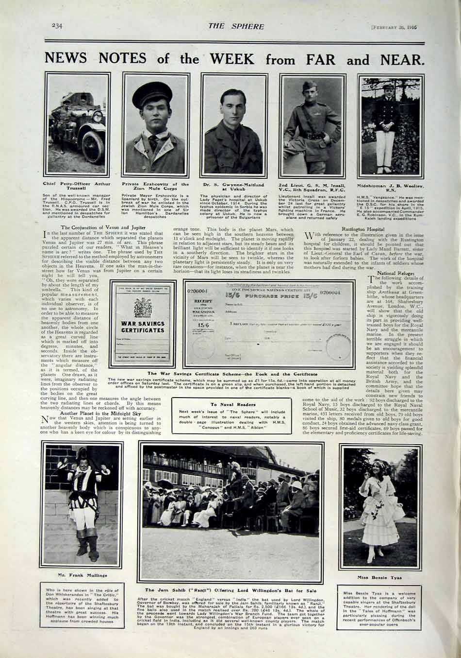 [Print 1916 Soldiers Clubhouse Theatre War Willingdon Tyas 197Rn802 Old Original]