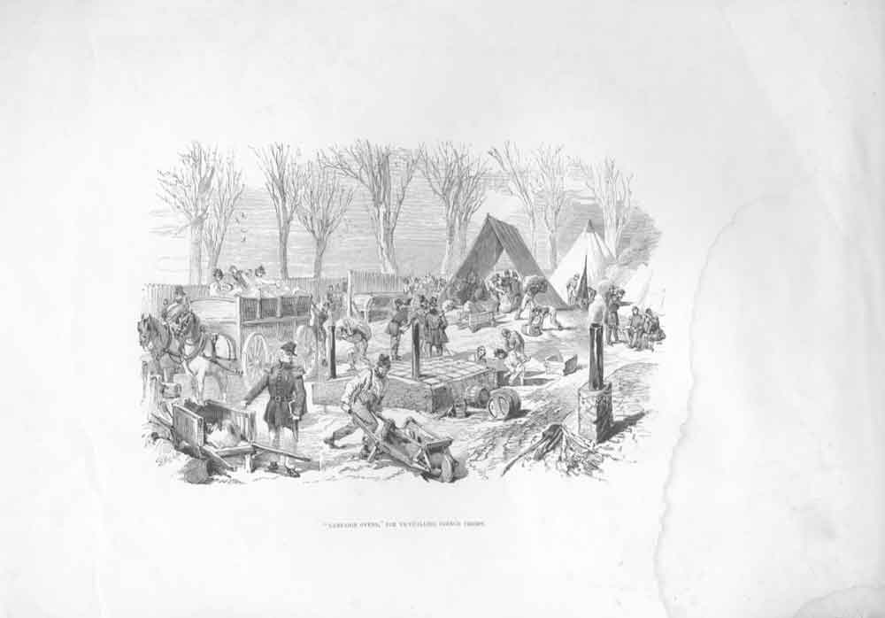[Print Campaign Ovens For French Troops 364571 Old Original]