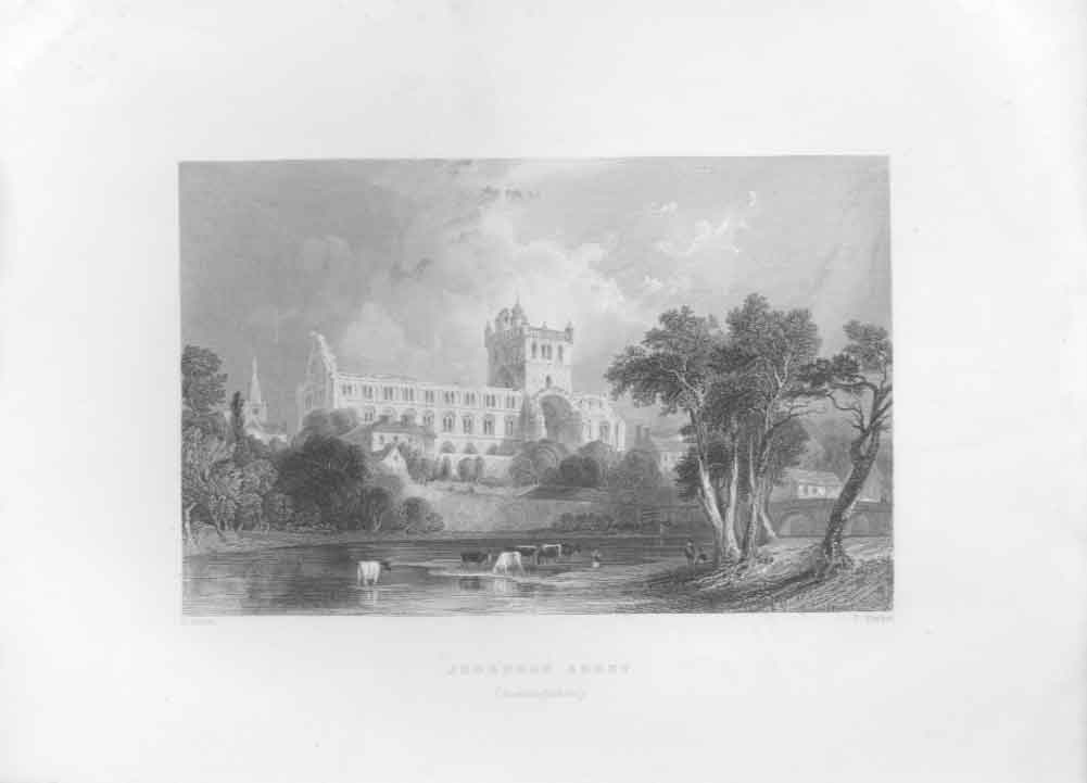 [Print Jedburgh Abbey By Allom Scotland C1835 694621 Old Original]