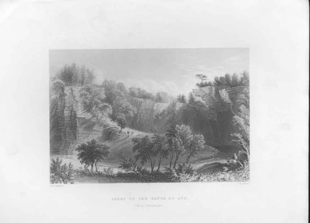 [Print On The Banks River Ayr Scotland C1835 384631 Old Original]