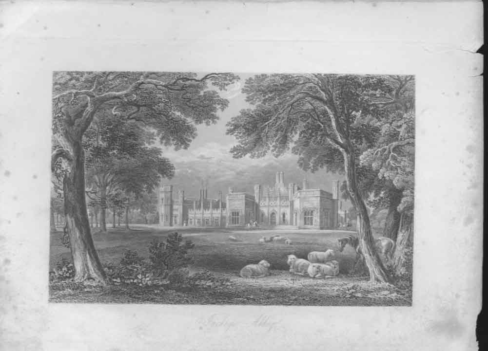 [Print Inchrge Abbey Scotland C1835 084631 Old Original]