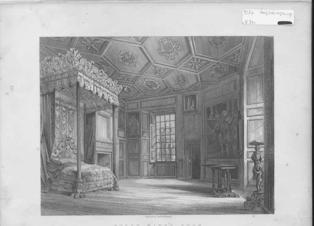 [Print Queen Mary'S Room Scotland'S History C1850 364641 Old Original]