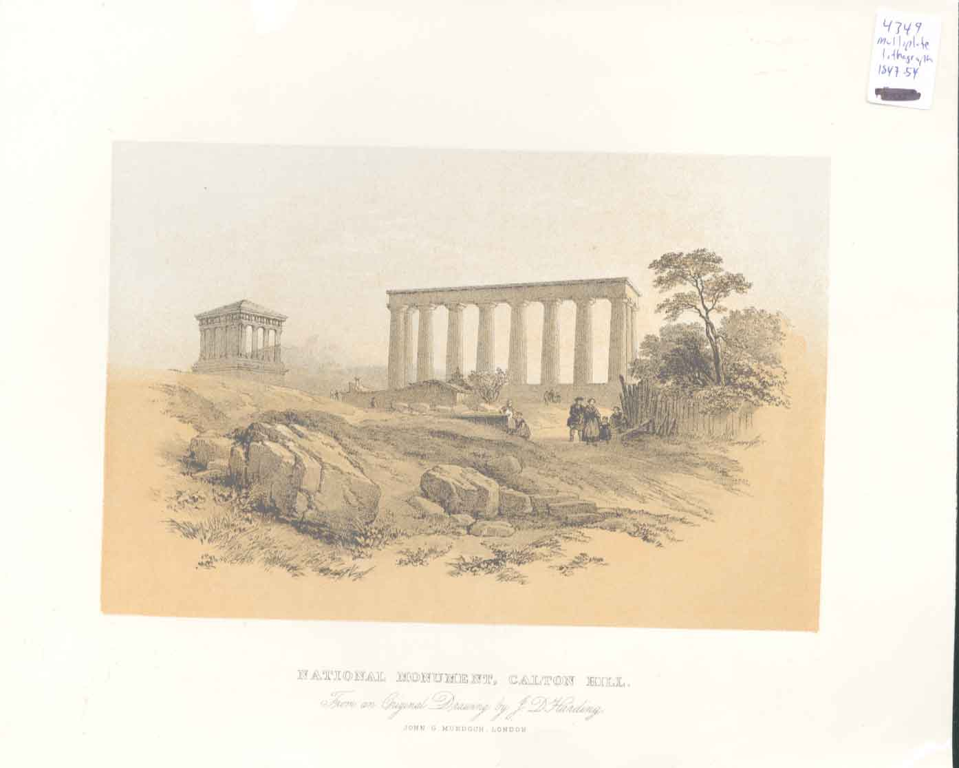 [Print National Monument Calton Hill Scotland 314651 Old Original]