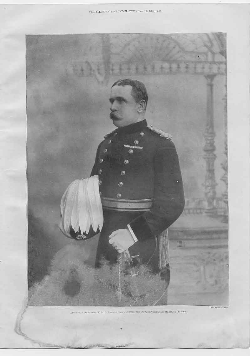 [Print Gen French Commander Cavalry S Africa 194760 Old Original]