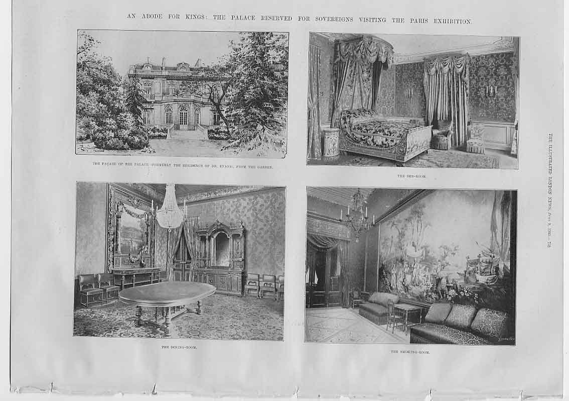 [Print An Abode For Kings At Paris Exhibition 684760 Old Original]