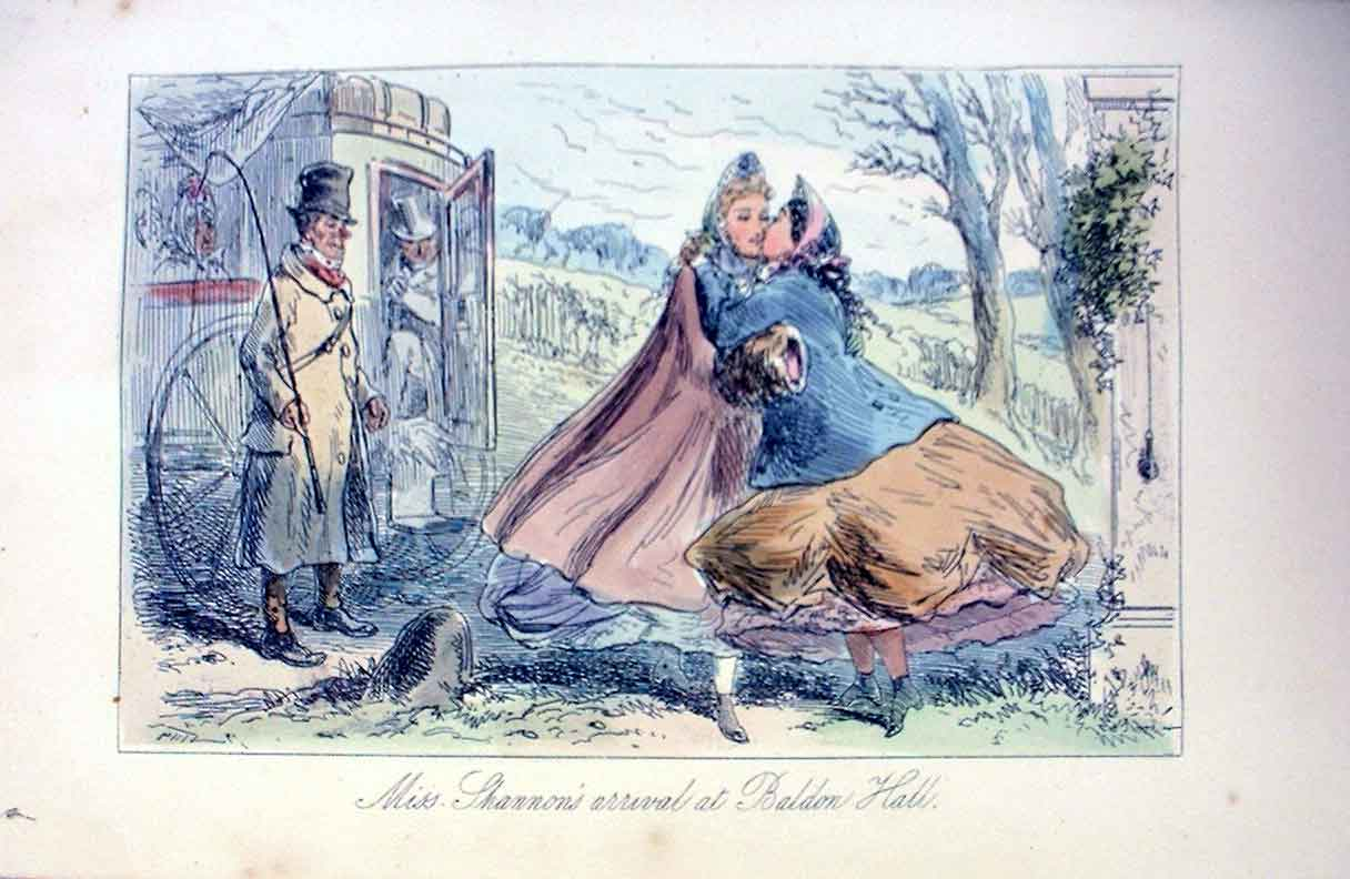 [Print Arrival For The Hunt 1858 Leech H/C S 185241 Old Original]