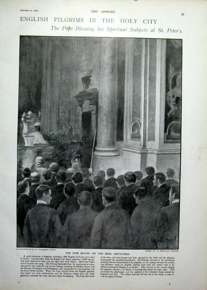 [Print Mrs Danes Defence At Wyndham'S Theatre 1900 975401 Old Original]