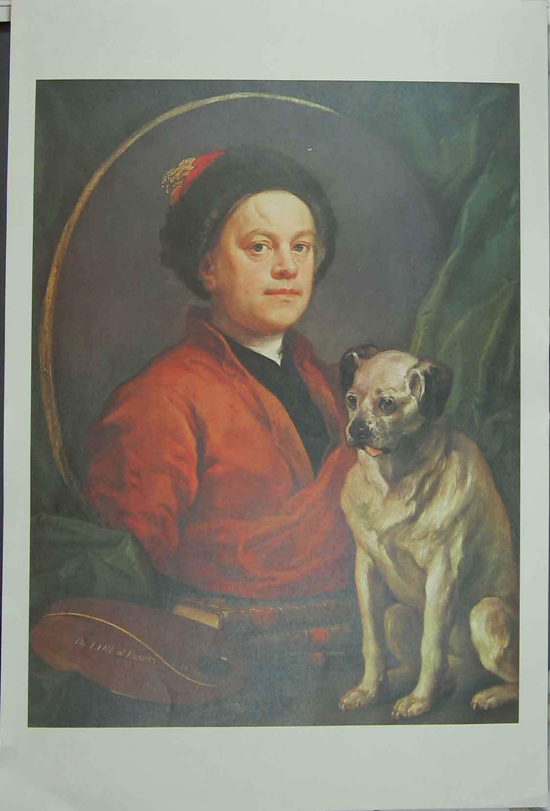 Print Portrait Master And His Dog 21Www1 Old Original