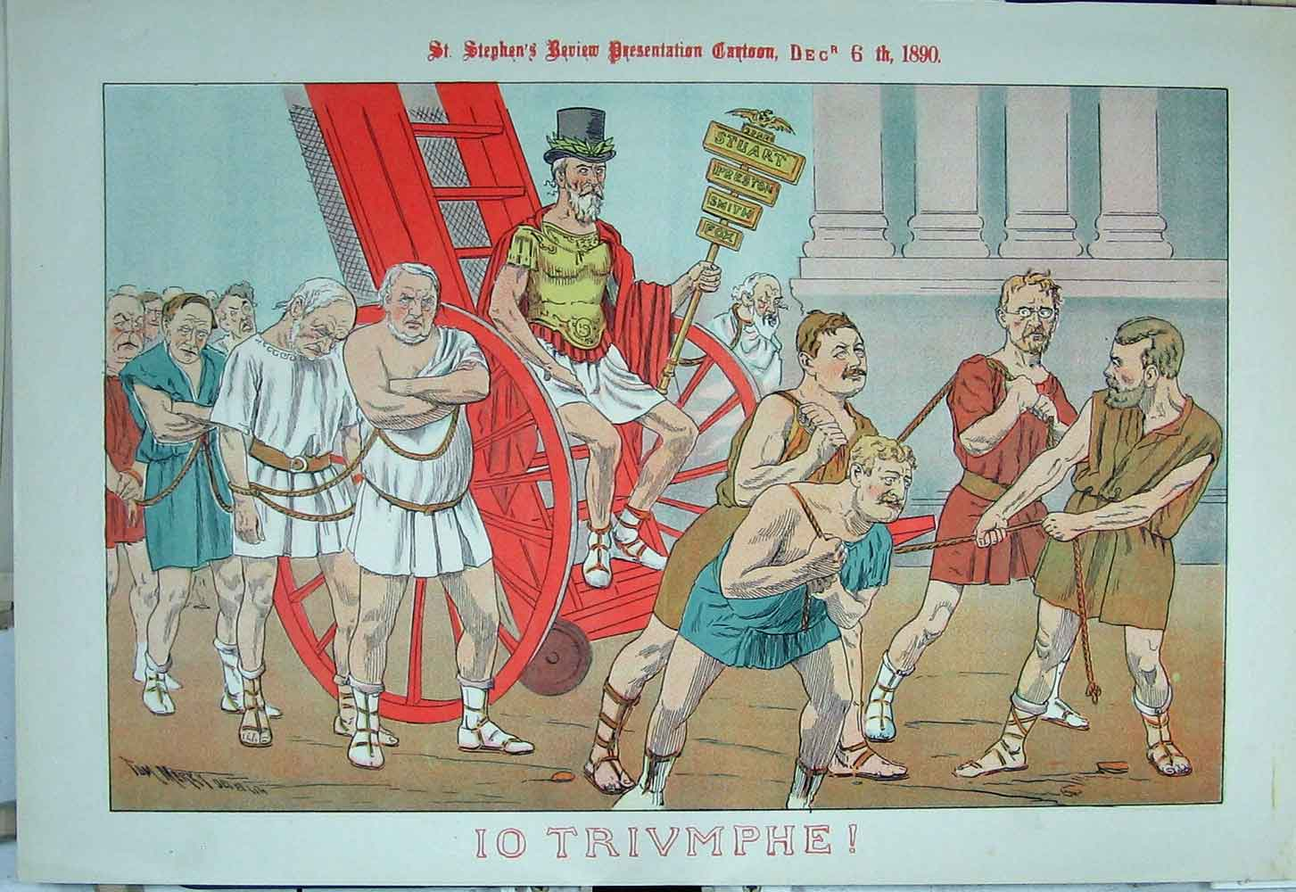 Print 1890 Political Cartoon Roman Costumes Stuart Smith Fox 16Xyz1 Old Original