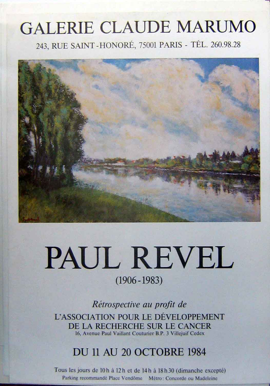 Print Large Advert Poster Paul Revel Marumo Gallery 29Yyy1 Old Original