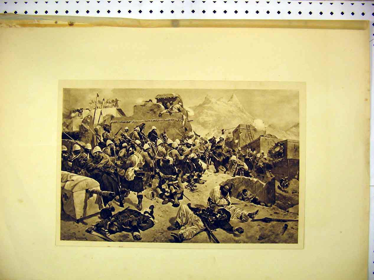 Print Photograph War Scene Soldiers Dead Injured 119B307 Old Original