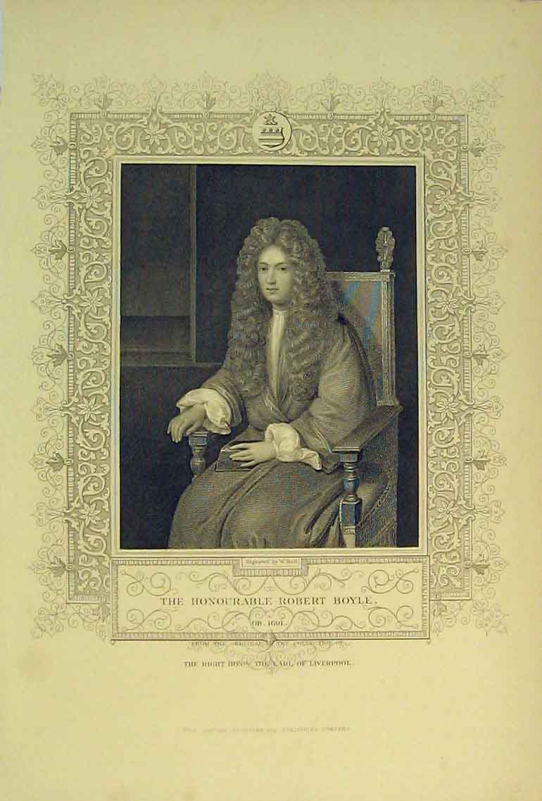 Print C1830 Portrait Honourable Robert Boyle Earl Liverpool 150B322 Old Original