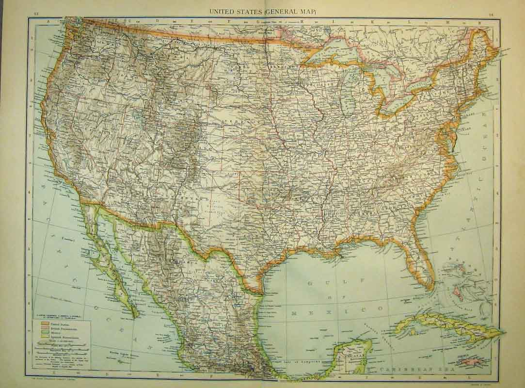 OldPrint Antique And Victorian Art Prints Paintings World Maps - Old maps of america