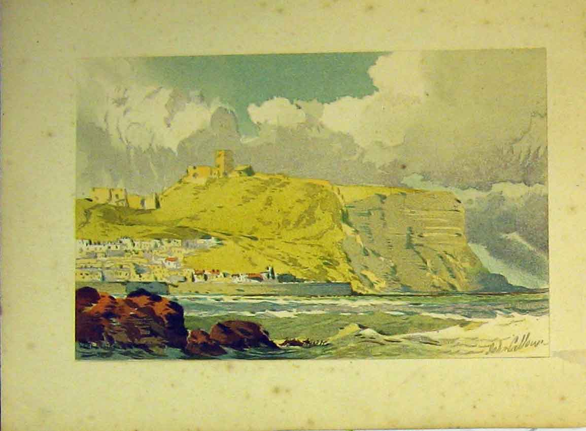 Print Vere Foster Water Colour C1890 Cliffs House Sea Callou 610Ab355 Old Original
