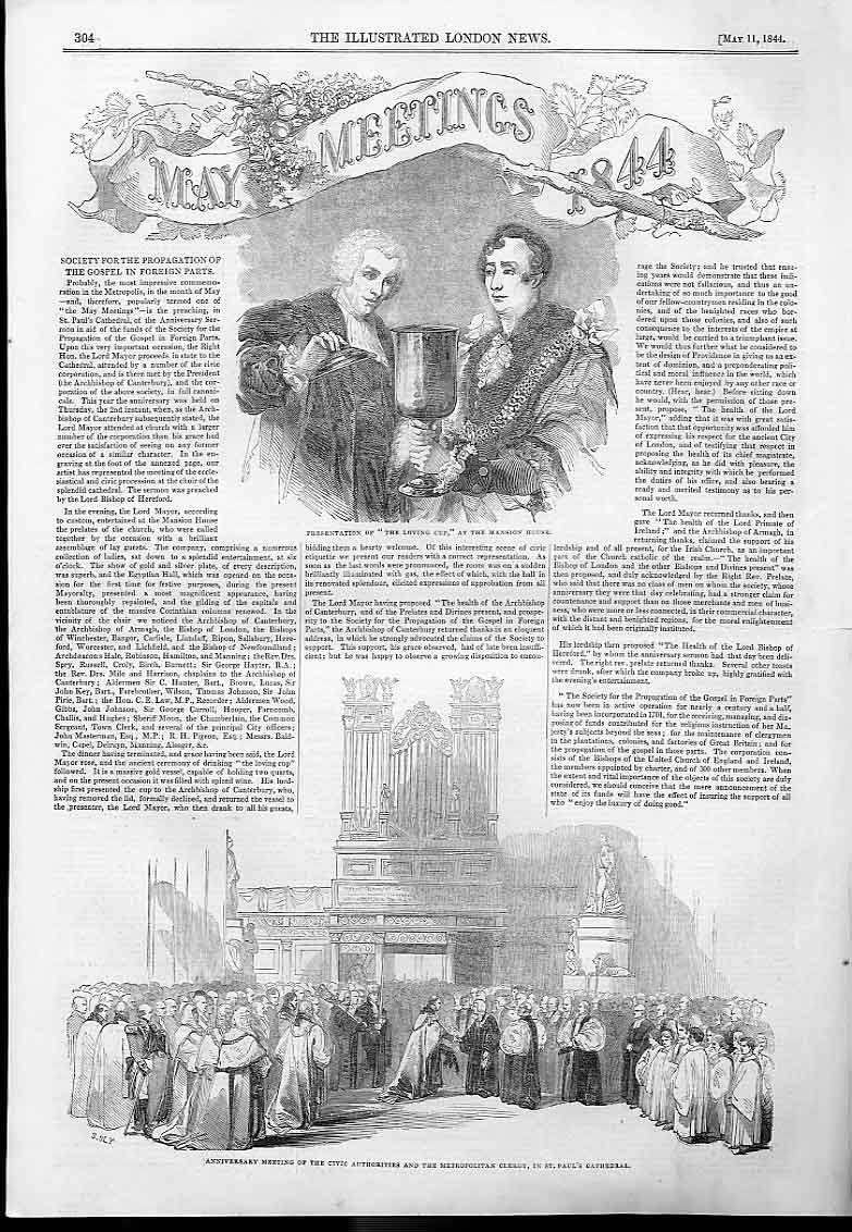 Print May Meetings 1884 Propgation Gospel 04Aaa0 Old Original