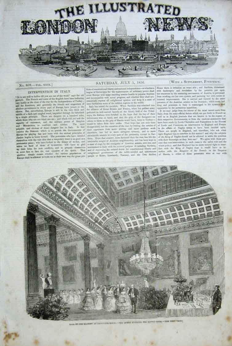 Print Royal Ball Grosvenor House 1856 02Aaa0 Old Original