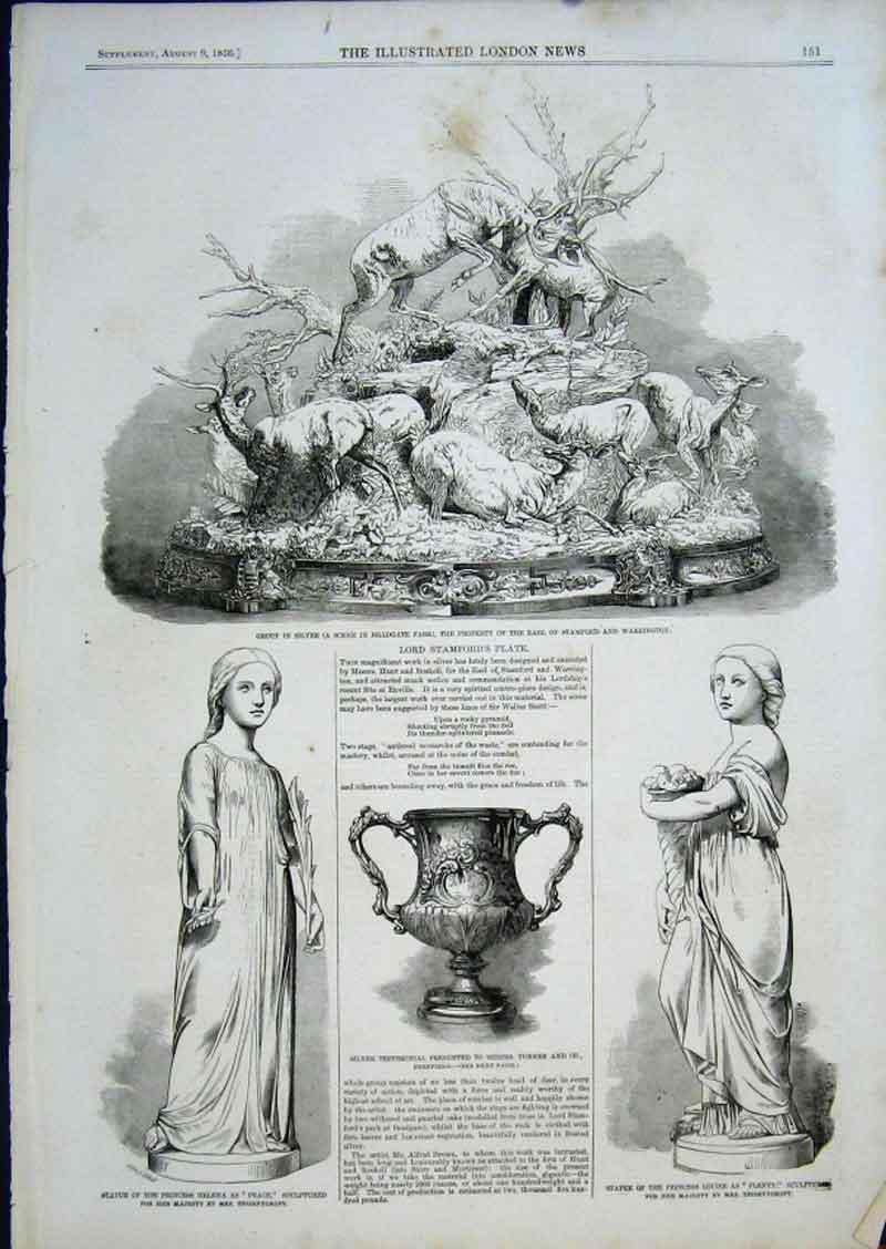 Print Lord Stamfords Plate 1856 51Aaa0 Old Original