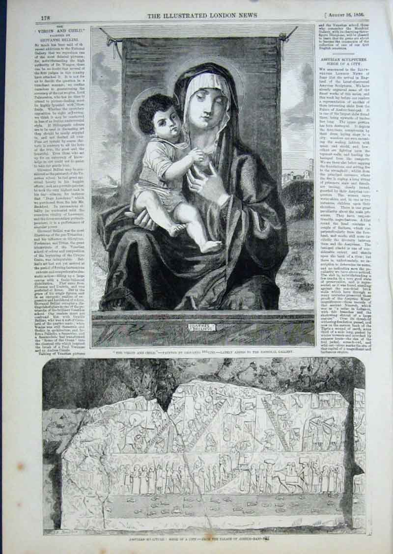 Print Virgin & Child By Giovanni 1856 Fine Art 78Aaa0 Old Original